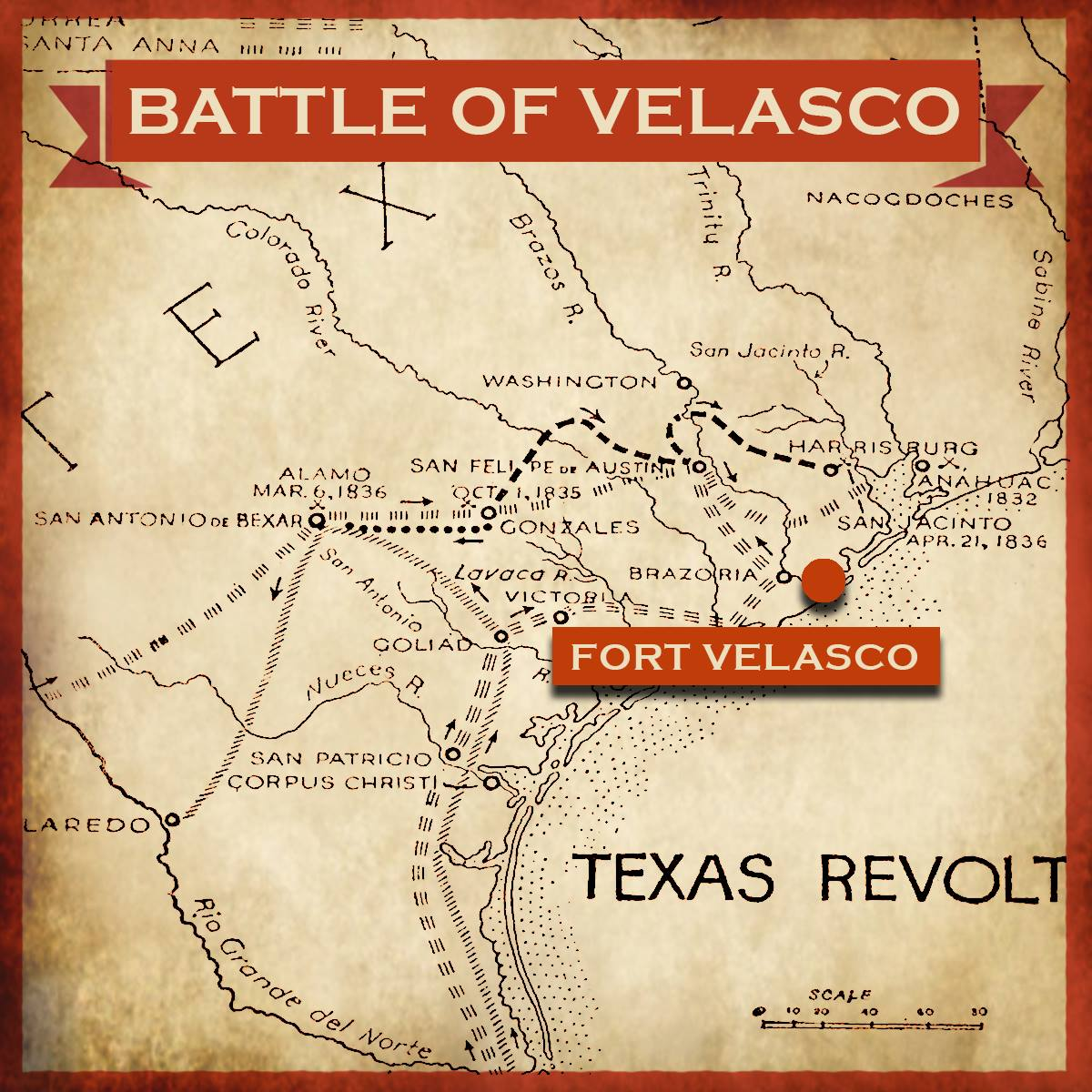 Map of Velasco Battle