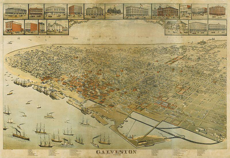 Galveston Texas Map