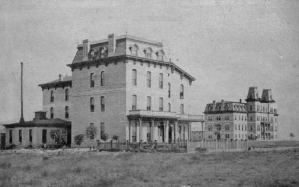 Texas A&M Building in 1870s