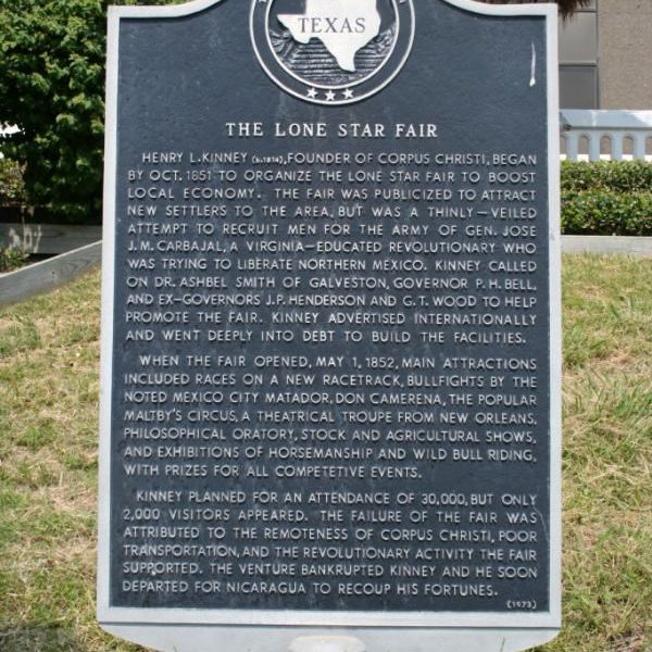 Historical Marker for Lone Star Fair of 1852