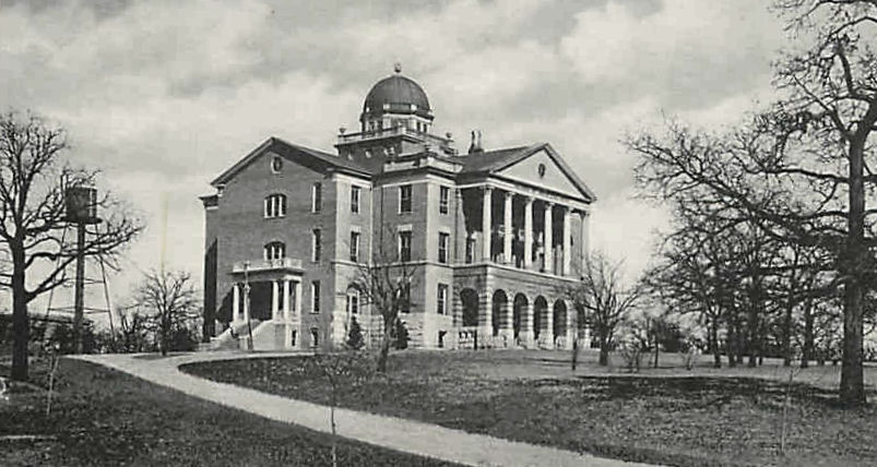 Old Main at TWU in 1903
