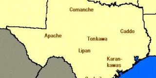 Map of Texas Native American Indians